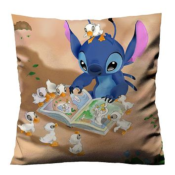 LILO STITCH AND DUCKS Cushion Case Cover