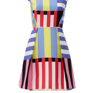 kate spade new york Multi Stripe Kite Bow Back Dress