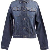 Classic Dark Blue Denim Jacket