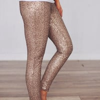 Gold Sequin Legging