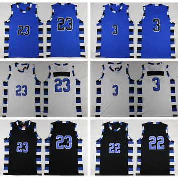 Movie Basketball Jerseys 2016 Rev 30 New Material #3 #23 #22 Men Sports Uniforms With Player Name Team Logo Basket ball Shirt Wear Hot Sale