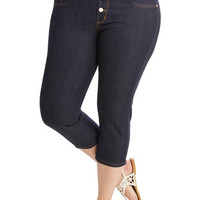 Rockabilly High Waist Karaoke Songstress Jeans in Capri Length - 1X-3X