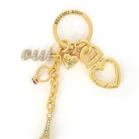 Pave Eiffel Tower & Charms Keyfob by Juicy Couture
