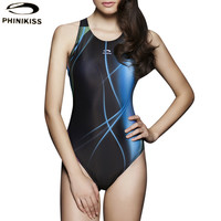 Striped Women One Piece Swimsuit Blue Black Slimming Sports Bodysuit High Quality Bathing Suit Summer Style Backless Swimwear