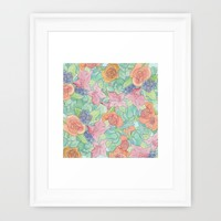 Southwestern Floral  Framed Art Print by Catherine Holcombe