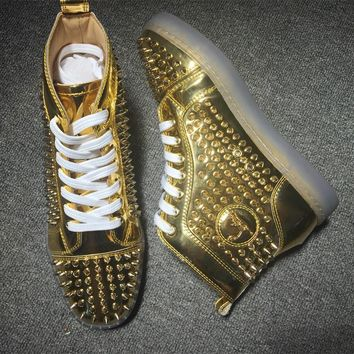 Cl Christian Louboutin Louis Spikes Style #1840 Sneakers Fashion Shoes