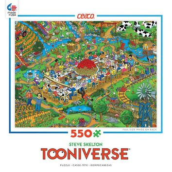 Ceaco Tooniverse Farm to Table 550 Piece Jigsaw Puzzle