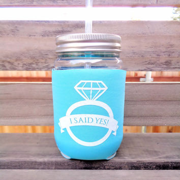 Bride Cup, Bachelorette Party Cup, Bridal Shower, Future Mrs., Robin's Egg, Aqua