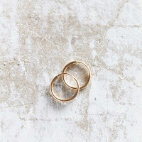 Seoul Little X UO 18k Gold Medium Hoop Earring | Urban Outfitters