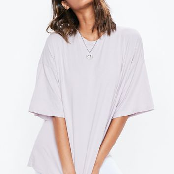 Missguided - Lilac Purple Drop Shoulder Oversized Washed T Shirt