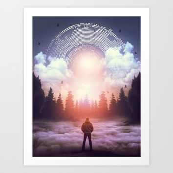 Waiting for the Sun to Rise Art Print by soaring anchor designs