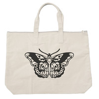 Butterfly tattoo Tote bags. Black or Natural color