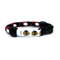 Chicago Blackhawks Braided Hockey Lace Bracelet