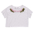 ChainCandy Floral Printed Cotton Boxy Cropped Top t shirt
