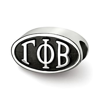 Sterling Silver Gamma Phi Beta Letters Bead Charm