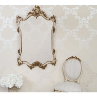 Palais Carved Ivory & Gold French Mirror