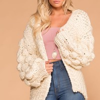 Winter Baby Ivory Knit Cardigan
