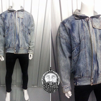 Shop Acid Wash Denim Jacket On Wanelo