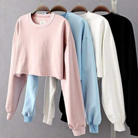 Crop Hoodies Sweatshirt