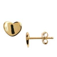 Lord & Taylor 18 Kt Gold Over Sterling Silver Heart Stud Earrings