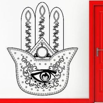 Wall Stickers Vinyl Decal Hamsa Amulet Talisman Cool Living Room Decor Unique Gift (z2366)