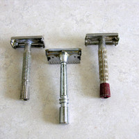 Vintage Safety Razor Instant Collection Vanity Bathroom Etsy Dudes Shaving Collectible