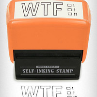 WTF Self Inking Stamp | PLASTICLAND