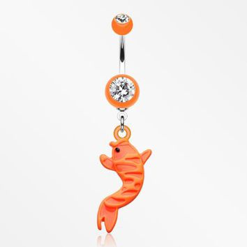 Koi Fish Belly Button Rings