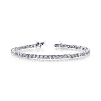 Lafonn Sterling Silver 3.25cttw Simulated Diamond Tennis Bracelet