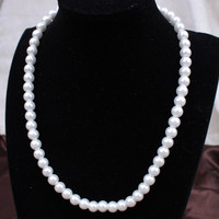 Gift New Arrival Jewelry Shiny Korean Stylish Simple Design Pearls Necklace [6046531649]