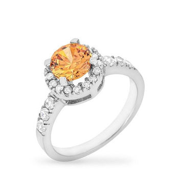 Champagne Crown Ring, size : 09