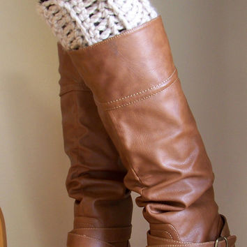Chunky Boot Cuffs with Button, Boot Socks, Button Legwarmers, Boot Toppers