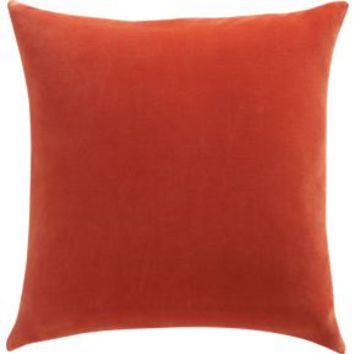 "Leisure Burnt Orange 23"" Pillow With Feather Insert"