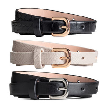 H&M 3-pack Narrow Belts $12.99