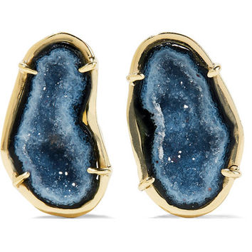 Kimberly McDonald - 18-karat gold geode earrings