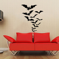 Animal Bats Bat Halloween Housewares Wall Vinyl Decal Sticker Design Modern Art Interior Bedroom Decor Home Living Room Window SV4202