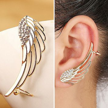 1PC Punk Rhinestone Ear Cuff