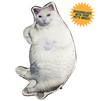 Fuzzy Nation™ Huggable Fur Cat Personalized Pillow