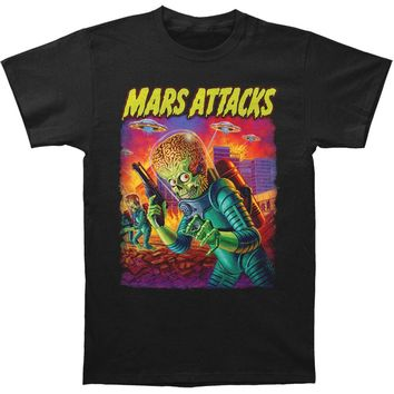 Mars Attacks! Men's  UFO's Attack T-shirt Black
