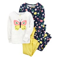 Baby Girl Carter's Embroidered Tees & Pants Pajama Set | null