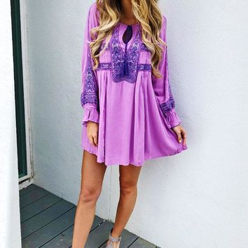 We Found Love Dress: Lavender/Multi