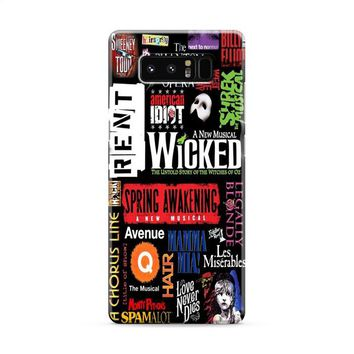 Broadway Musical Collage Samsung Galaxy Note 8 Case