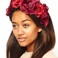 River Island Red Flower Garland