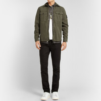 Stone Island - Zipped Washed Cotton Overshirt | MR PORTER