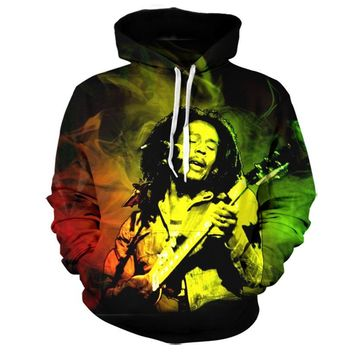 Bob Marley Hoodie Sweatshirt Men 2017 New Fashion Autumn Winter Mens Clothing Casual Outwear Tracksuit Brand Hooded Dropship