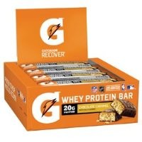 Gatorade Whey Protein Recover Bars Chocolate Caramel 2.8oz (12 Pack)