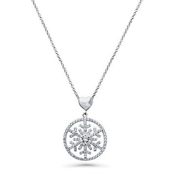 SALE  The Elysian Heart Holiday Snowflake Necklace