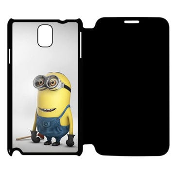 Funny Minion Despicable Me Samsung Galaxy Note 4 Flip Case Cover