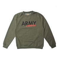 Mishka: Army of Darkness Recruit Crewneck Sweater  - Military Green