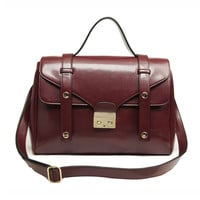 Wine Red Vintage Doctor Satchel